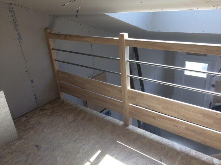 Escalier HEVEA avec Garde corps Lisses INOX2