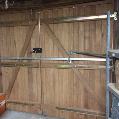 Fabrication portail Bois2