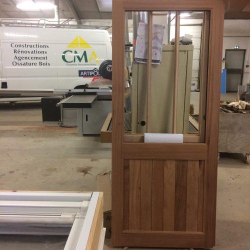 Fabrication porte bois