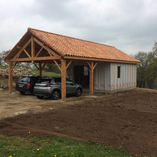 Garage Ossature Bois avec Préau2