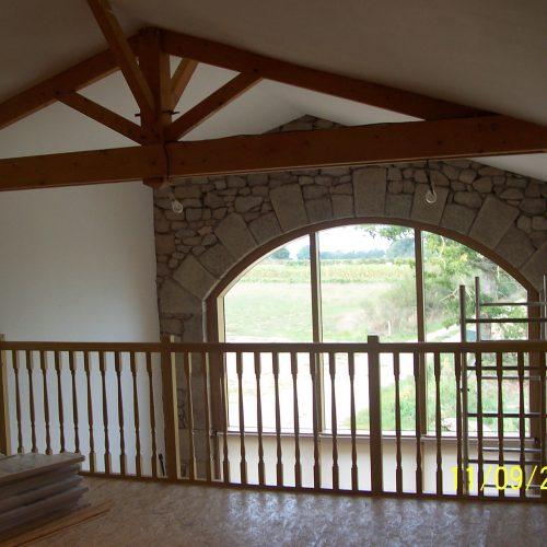 Mézzanine et charpente traditionnelle